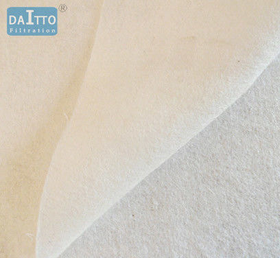 Olefin / Fluorocarbon Industrial Filter Cloth , Construction Filter Fabric Wear Resist