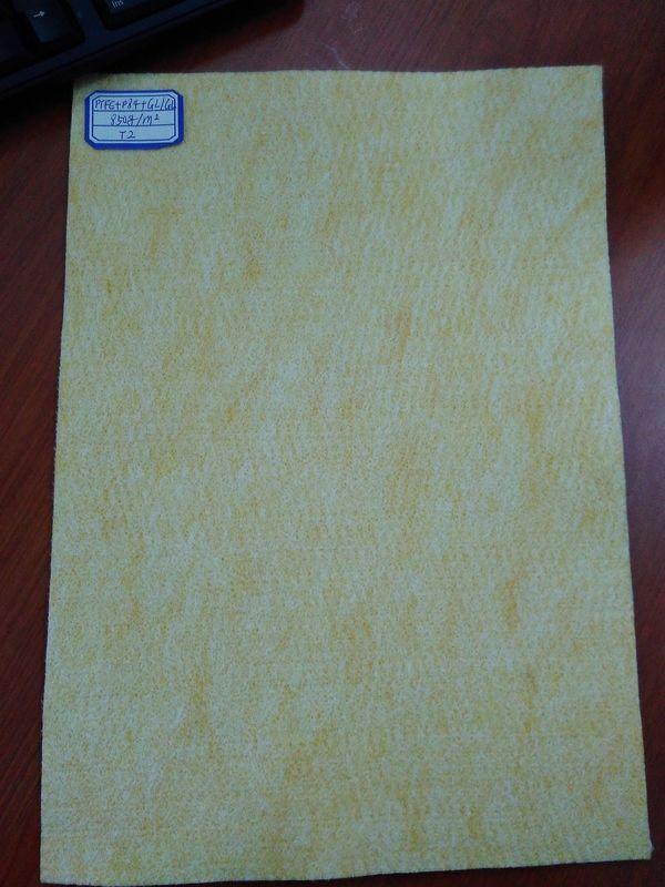 Blended Fiberglass Felt Micron Filter Fabric , Dust Filter Fabric Plain Colors