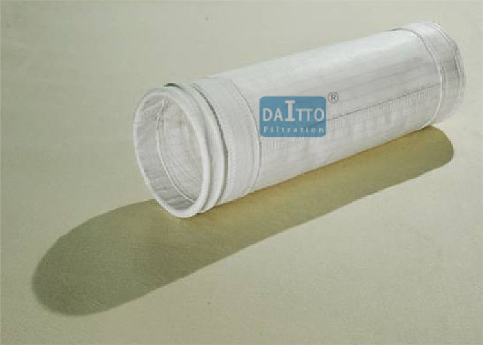 Polyester Stripe Industrial Filter Bags Anti Static Needle Felt Custom Length
