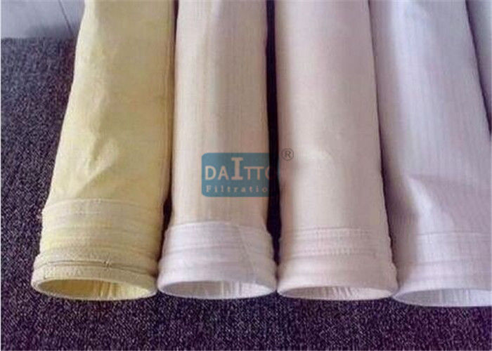 Fiberglass Mix PPS Industrial Filter Bags Carefully Fabricated Ensuring Dust Tight Seal