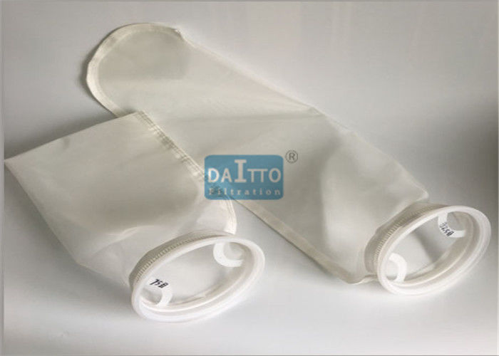 Round Bottom Monofilament Filter Bags , 25 Micron Filter Bag OEM Accepted